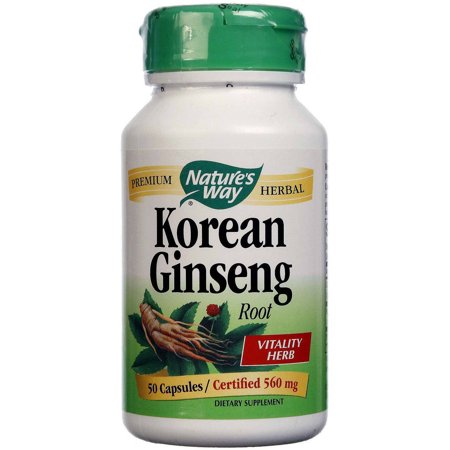 Nature's Way ginseng coréen capsules, 50 CT