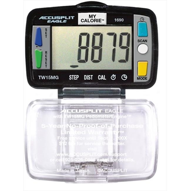 Accusplit AE1690 Eagle Steps Distance and Calories Pedometer