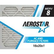 16x20x1 AC and Furnace Air Filter by Aerostar - MERV 8, Box of 6