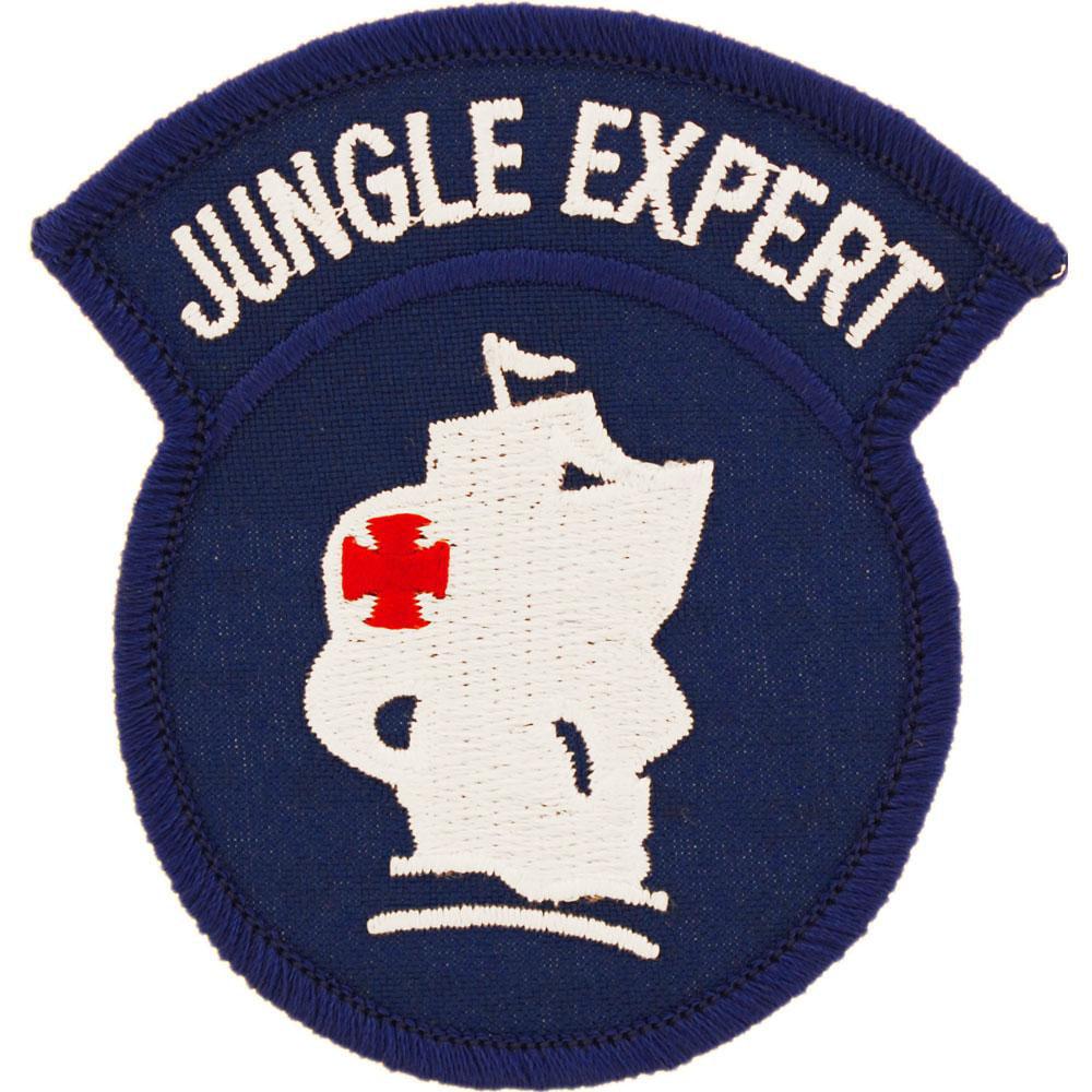 """U.S. Army Jungle Expert Patch Blue & White 3"""""""