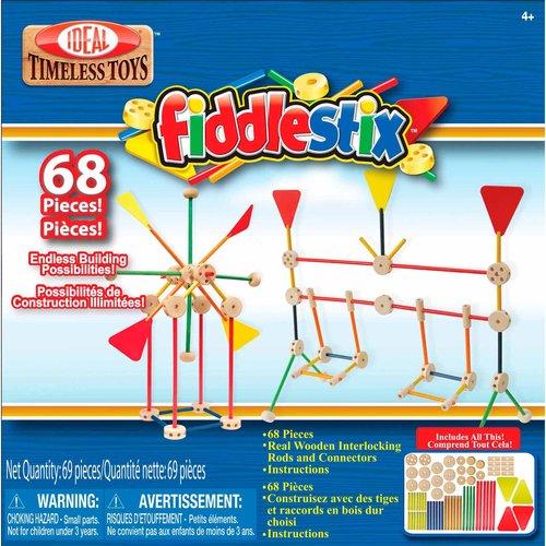 Ideal 68-Piece Fiddlestix Classic Wood Connector Set