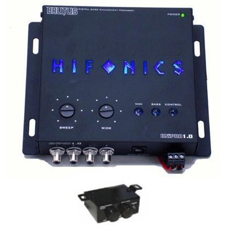 NEW HIFONICS BXIPRO1.0 Digital Bass Enhancement Processor w/Dash Mount BXIPRO10