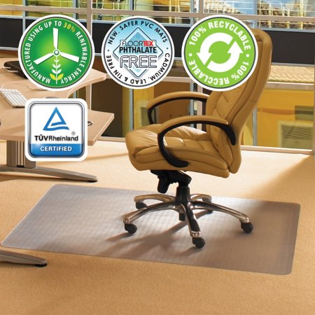 "Cleartex Advantagemat | Chair Mat for Carpets (1/4"" or less) 