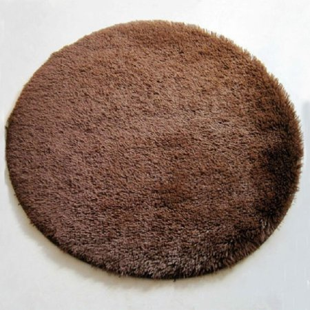 - NK Home Round Rugs Circular Rectangle Bedroom Fluffy Rugs Anti-Skid Shaggy Area Office Sitting Drawing Room Gateway Door Carpet Play Mat 16'' 32'' 40'' 2' 2.6' 4' 5.2' Brown