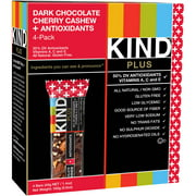 KIND Plus Bars, Dark Chocolate Cherry Cashew + Antioxidants, 1.4 oz, 4 Count
