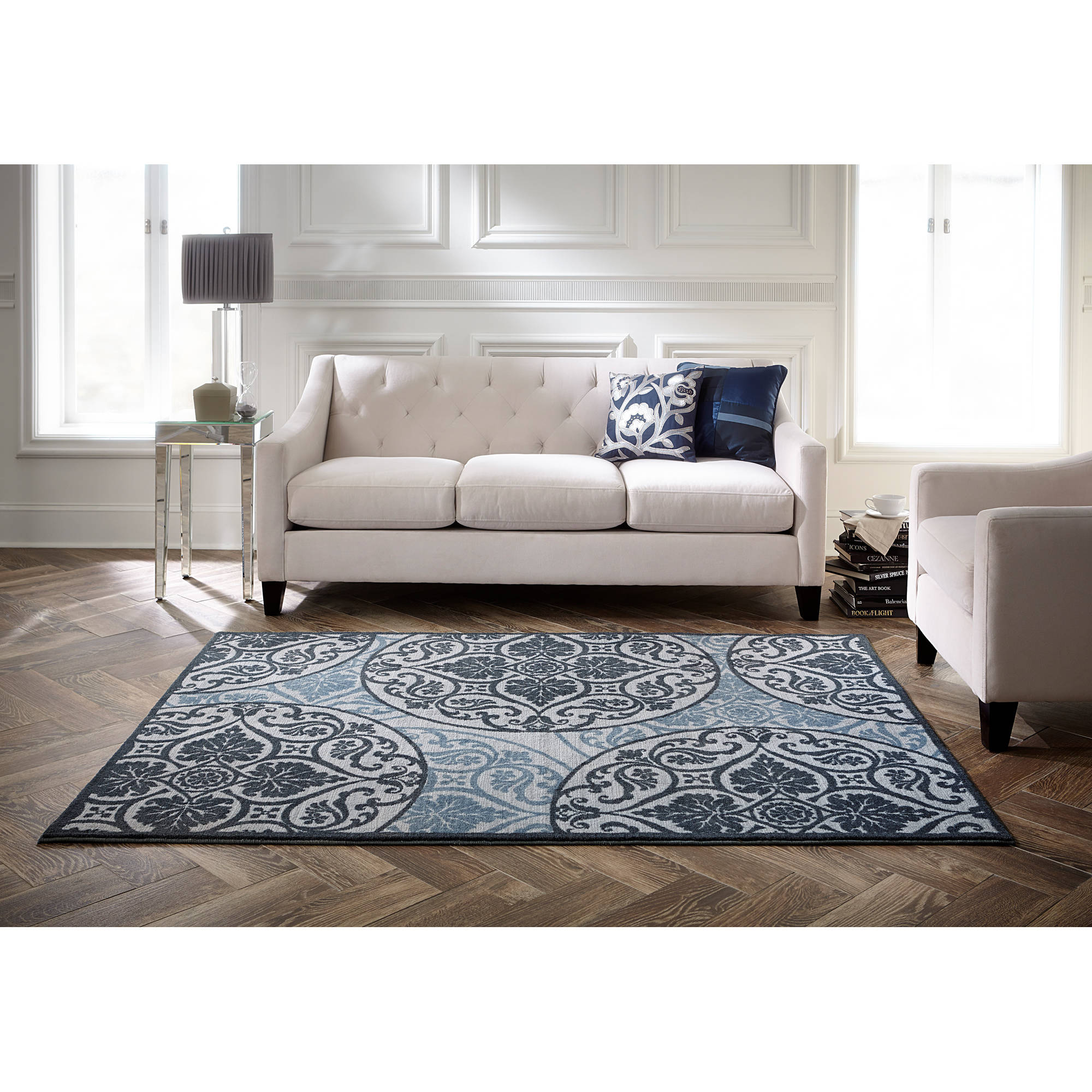 Blue Area Rugs For Living Room