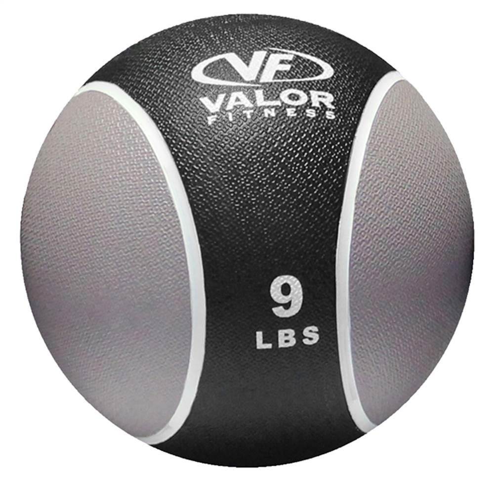 9 lbs. Medicine Ball in Black and Gray