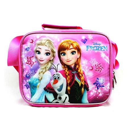 Lunch Bag - Disney - Frozen - Elsa Olaf & Anna Pink New A07972PK ()