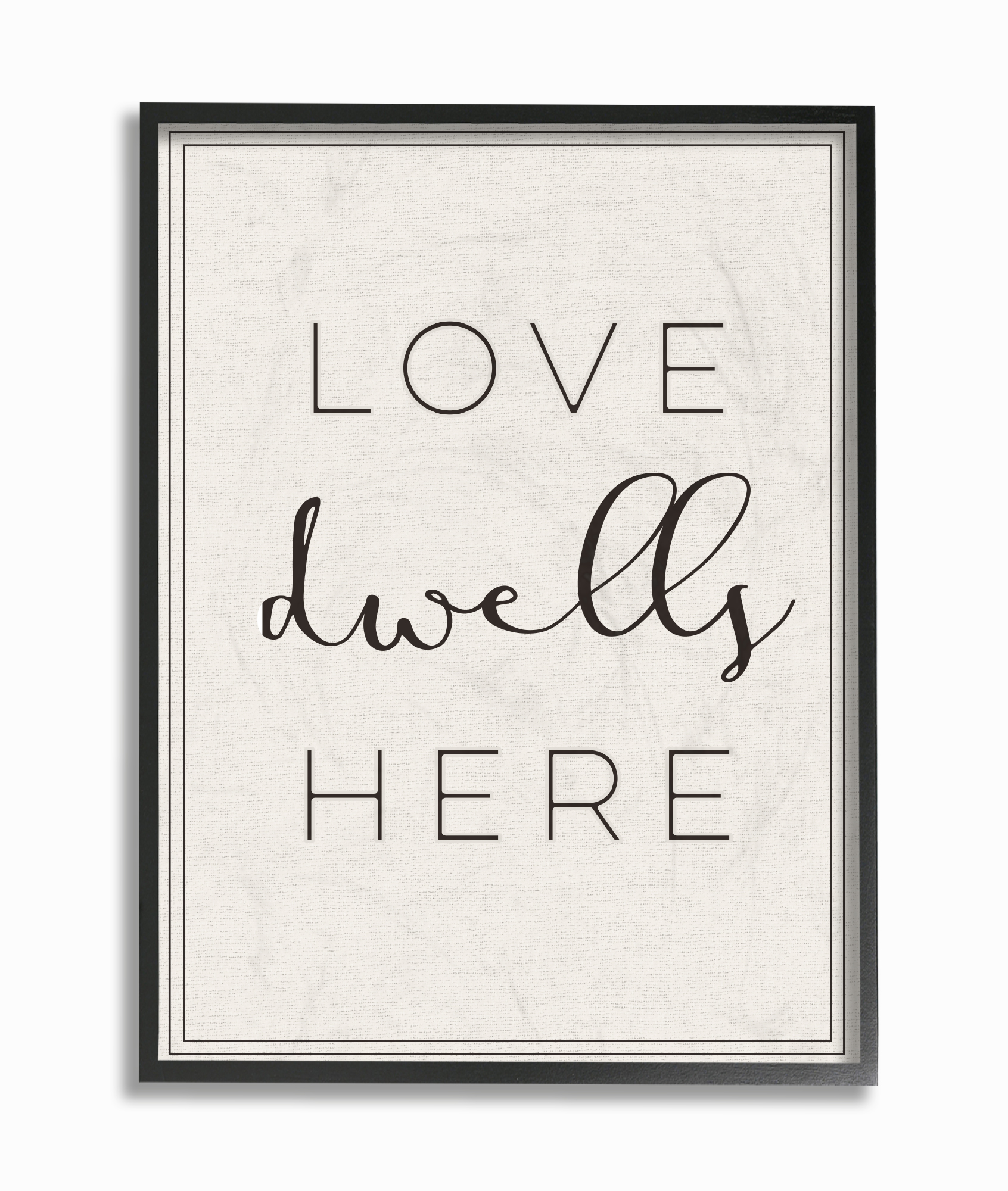 The Stupell Home Decor Collection Love Dwells Here Typography Framed Giclee Texturized... by Stupell Industries