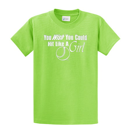 Softball T-Shirt Wish You Could Hit Like A Girl - Wish Clothing Store Atlanta