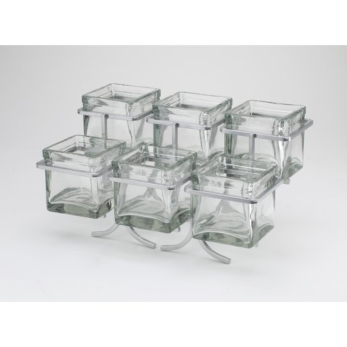Cal-Mil 6 Jar 2 Tier Condiment Holder
