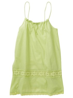 Azul Girls Green Adjustable Drawstring Camisole Tunic Cover Up