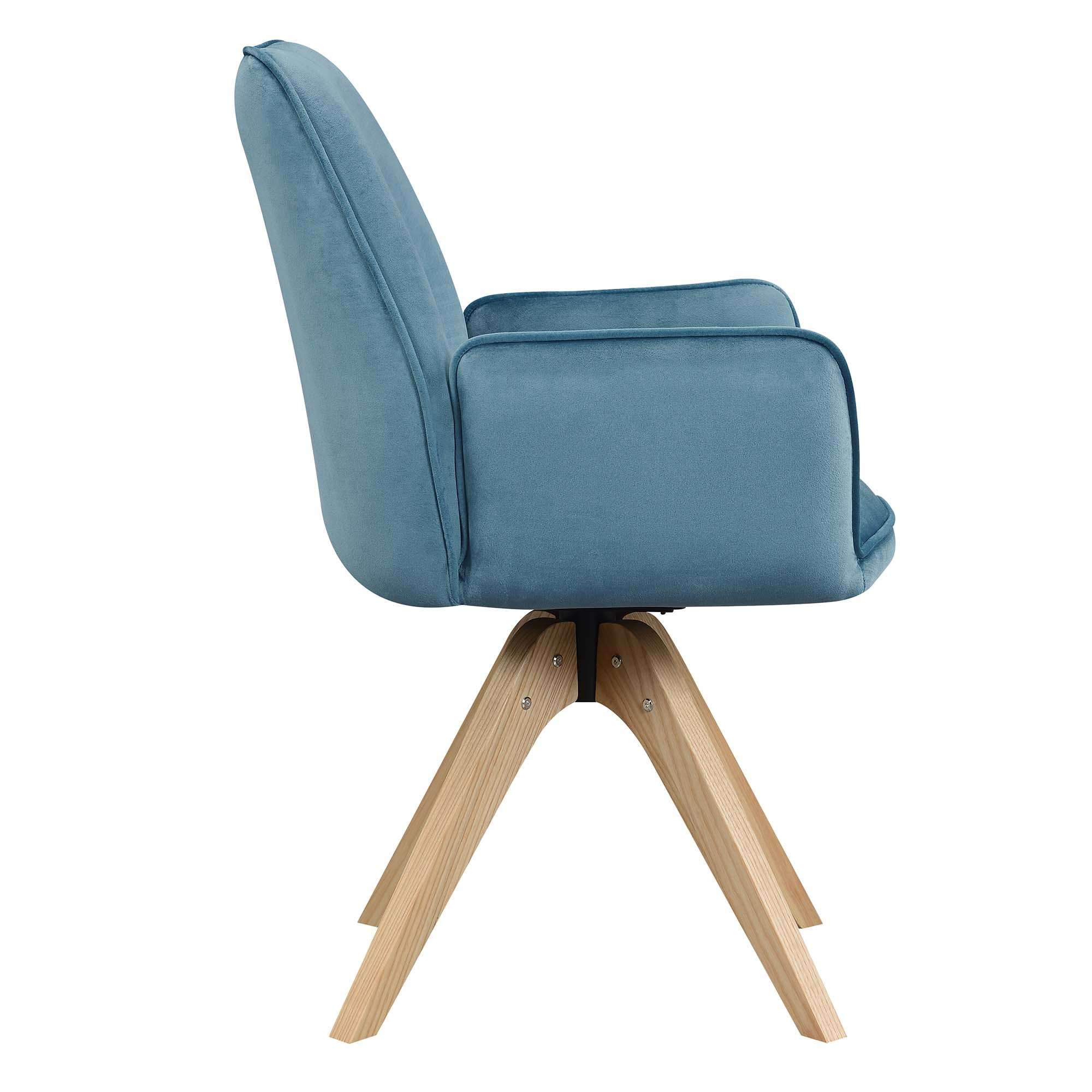 Convenience Concepts Miranda Swivel Chair, Gray