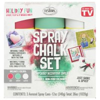 Testors Spray Chalk 3 Color Holiday Kit, 12 oz