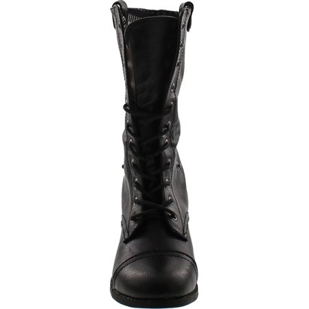 c062b373088 Sharper1 Lace Up Military Combat Boot Foldable Convertible Women Size S...