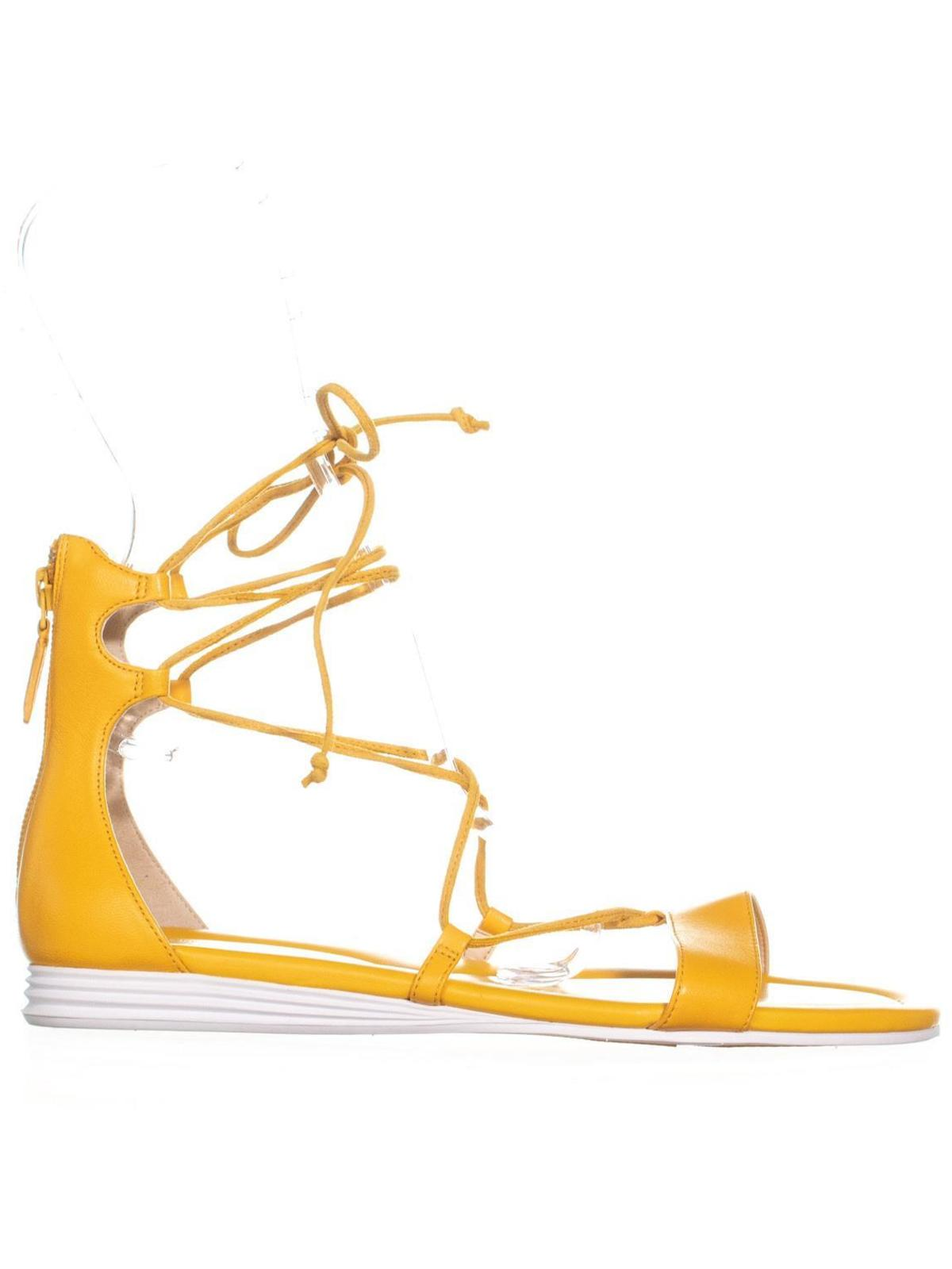 Womens Cole Haan Original Grand Lace Up Sandals, SNGL Yellow, 8.5 US