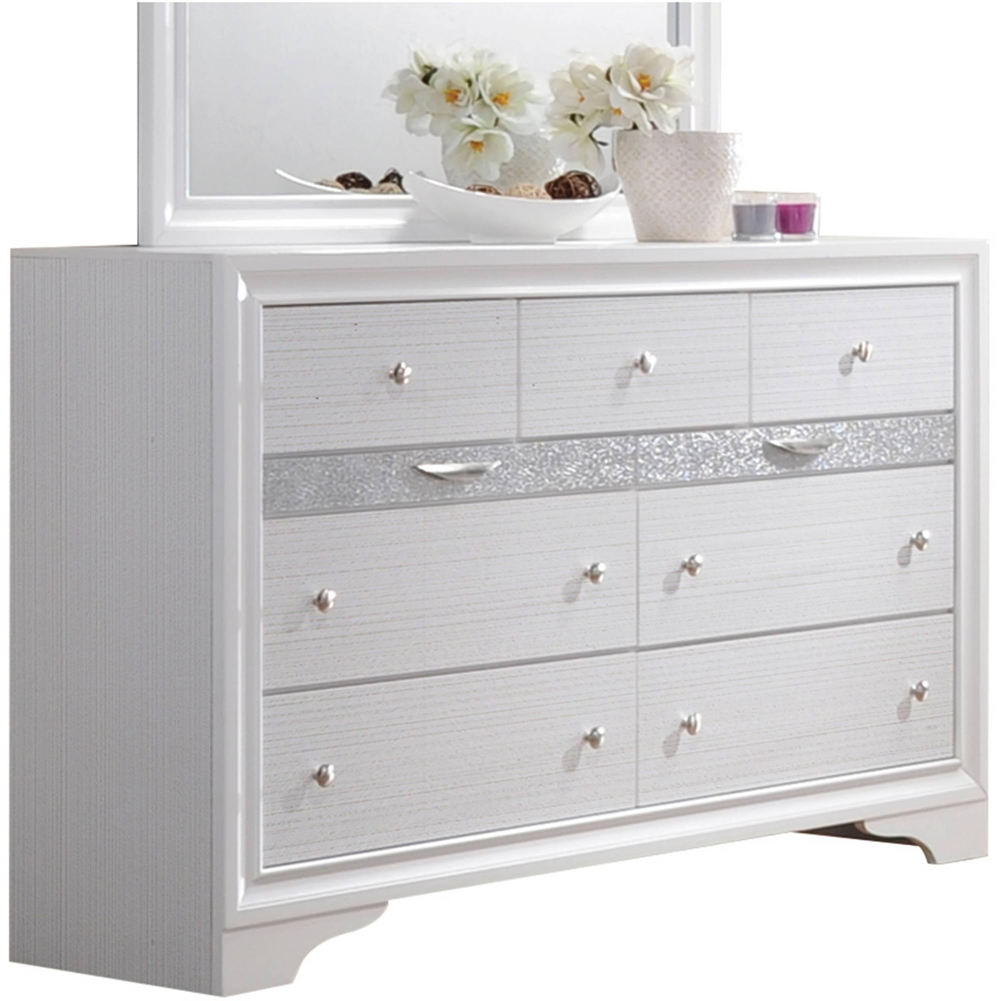 Acme Furniture Naima White Dresser with Nine Drawers