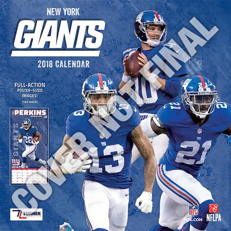 New York Giants Drapes - New York Giants 2019 12x12 Team Wall Calendar (Other)