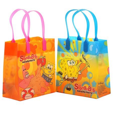 Disney Spongebob 12 Reusable Party Favors Small Goodie Gift Bags - Spongebob Walking Small