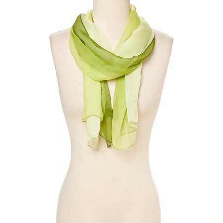 Lime Green Ombre Winter Scarfs for Women Fashion Polyster and Silk Fabric Casual Spring Fall Scarves Super Lightweight Comfy Ombre Pattern Womens Warm Scarf for Neck by Oussum Neck Scarf Patterns