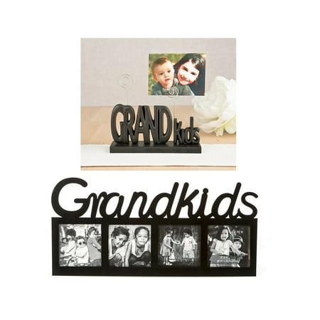 Mozlly Fashioncraft Grandkids Black Photo Holder and Fashioncraft ...