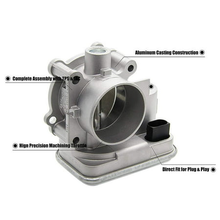 For Dodge Avenger Caliber Journey Chrysler 200 Sebring Jeep Cherokee  Compass Patriot Electronic Throttle Body Assembly with IAC TPS Idle Air  Control
