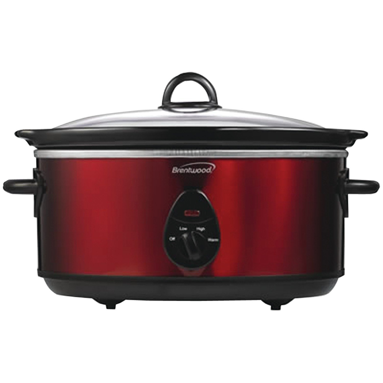 SC-150R 6.5-Quart Slow Cooker, Red Tone, NEW Garden Slow Brentwood 65Quart