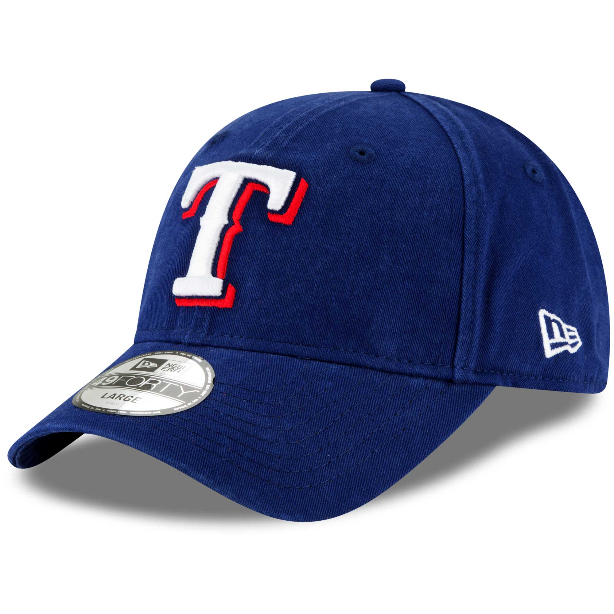 Texas Rangers New Era Core Fit Replica 49FORTY Fitted Hat - Royal