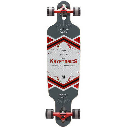 "Kryptonics 38"" Drop Through Longboard, 38"" x 10"" by"