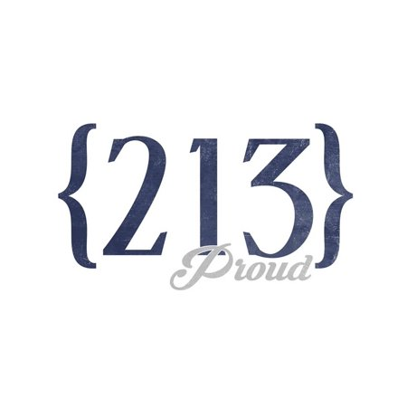 Los Angeles, California - 213 Area Code (Blue) Print Wall Art By Lantern Press