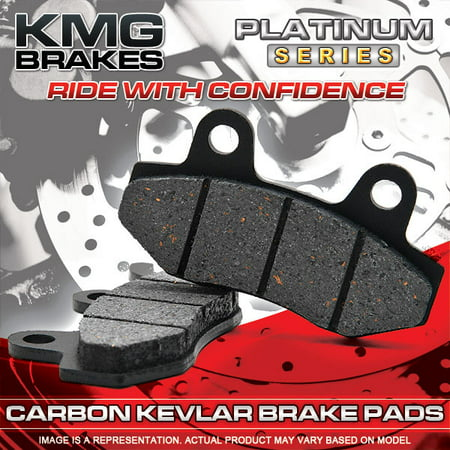KMG Front Brake Pads for 2005-2009 Triumph Speedmaster 865cc - Non-Metallic Organic NAO Brake Pads Set - image 1 de 4