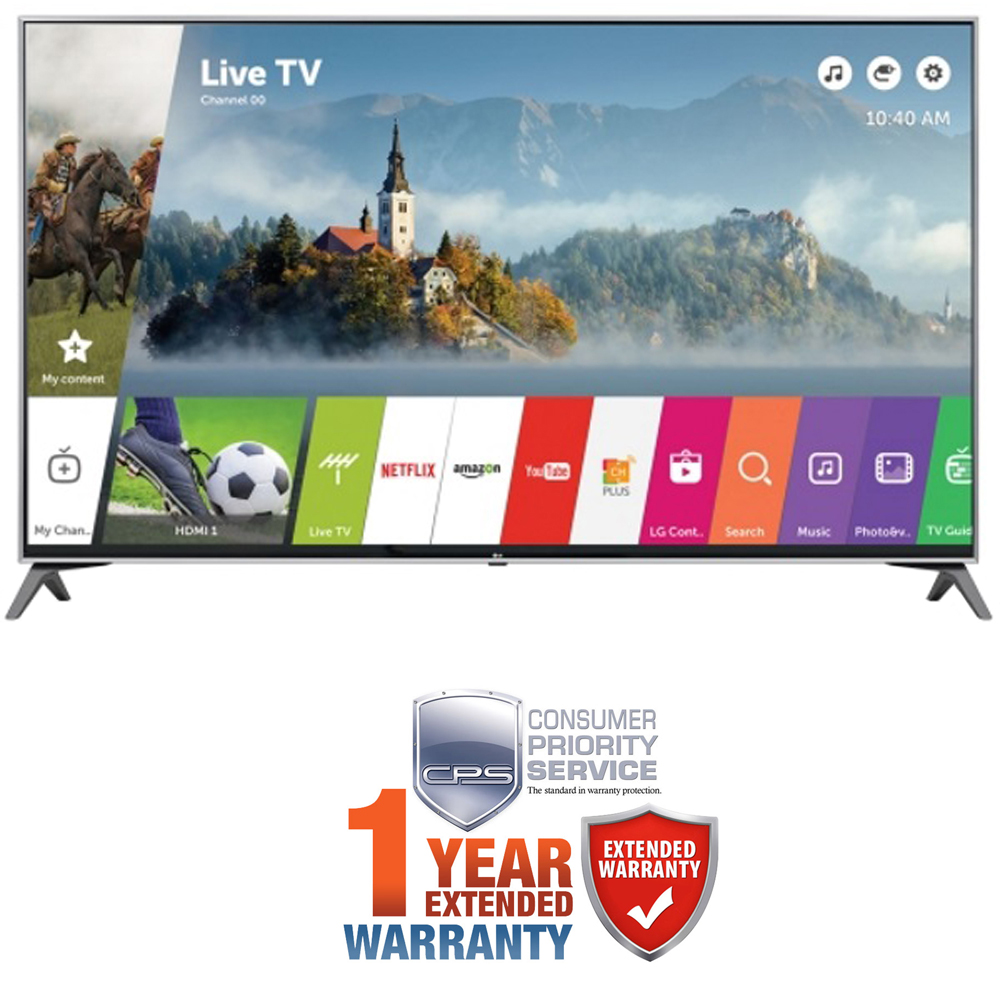 "LG 65"" UHD 4K LED TV 2017 Model w/ Additional 1 Year Extended Warranty"