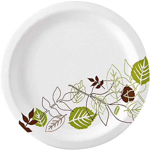 "Dixie Heavyweight Paper Plates, 10.0625"", 50 count, (Pack of 10)"