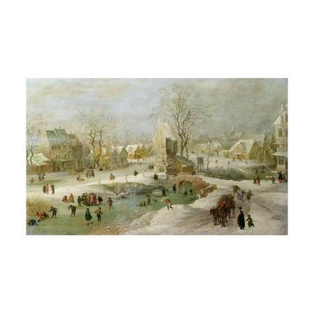 Winter Scene in Holland Print Wall Art By Jan Brueghel the Elder
