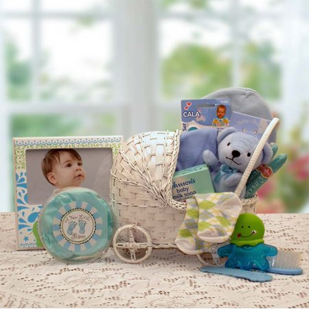 Gift Basket 89052-Y-T Bundle of Joy Baby Carriage - Yellow/Teal