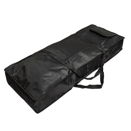 Portable 61-key Keyboard Thick Padded Electric Piano Bag Double Shoulder Black - image 2 de 4