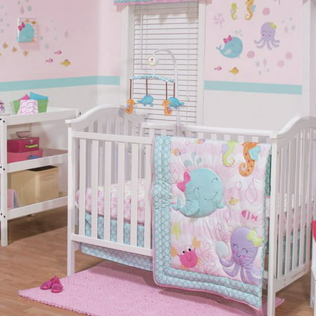 Belle Sea Sweetie 3 Piece Crib Bedding Set