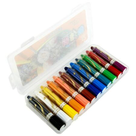 korean memory 12 colors professional water soluble crayon set