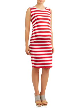 68547703c2 Product Image Maternity Stripe Sleeveless Knit Dress - Available in Plus  Sizes