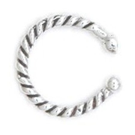 Sterling Silver Tight Wire Wrapped Band Bali Inner Ear Or Outer Ear (Bali Ear Cuff)