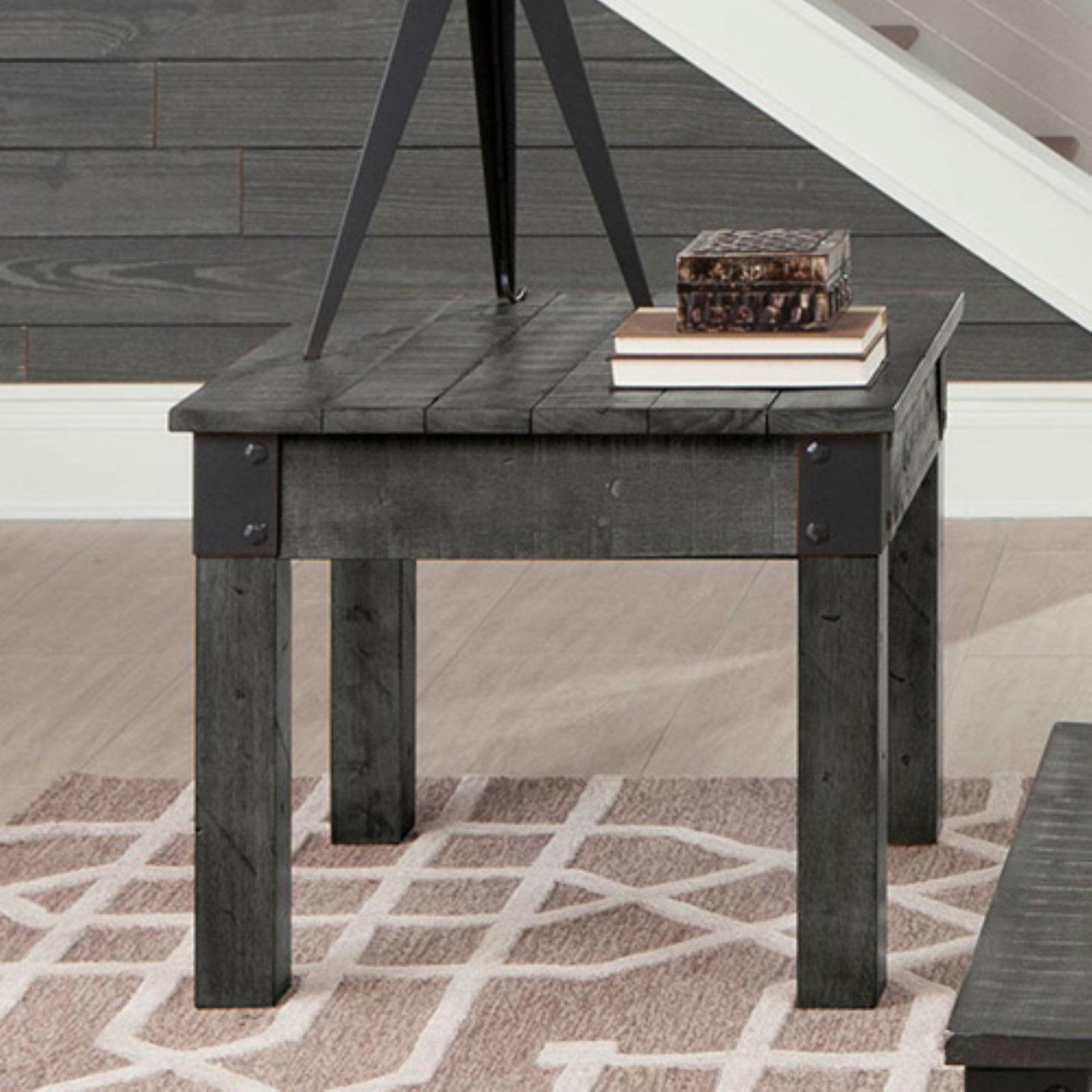 Coaster Company End Table, Rustic Grey