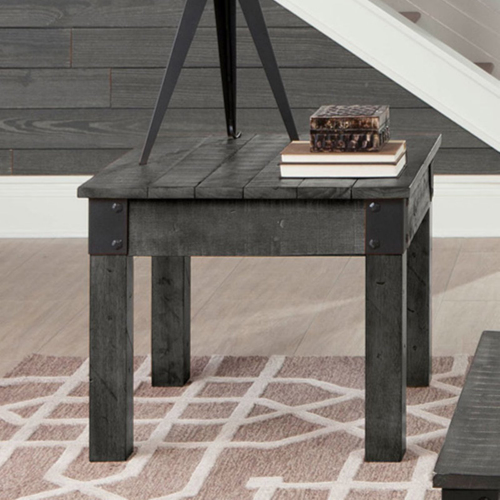 Coaster Company End Table, Rustic Grey