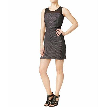 Kensie Junior's Printed Illusion-Contrast Sheath Dress, Black, S