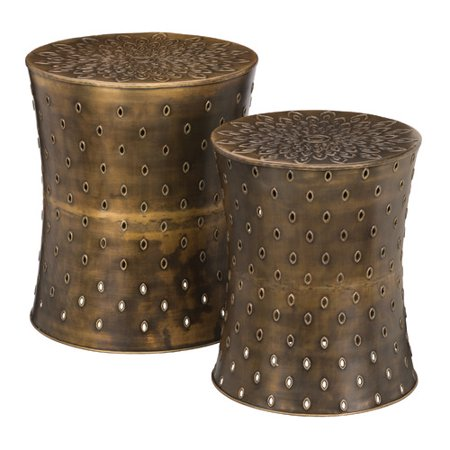 Regal Art Gift 2 Piece Bronze Lotus Garden Stool Set Walmart Com