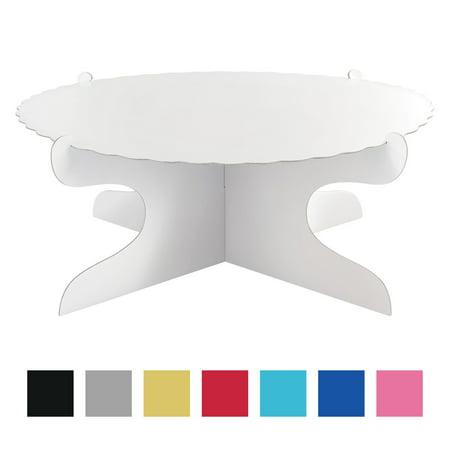 White Cardboard Cake Stand (1) - Cardboard Cake Stand