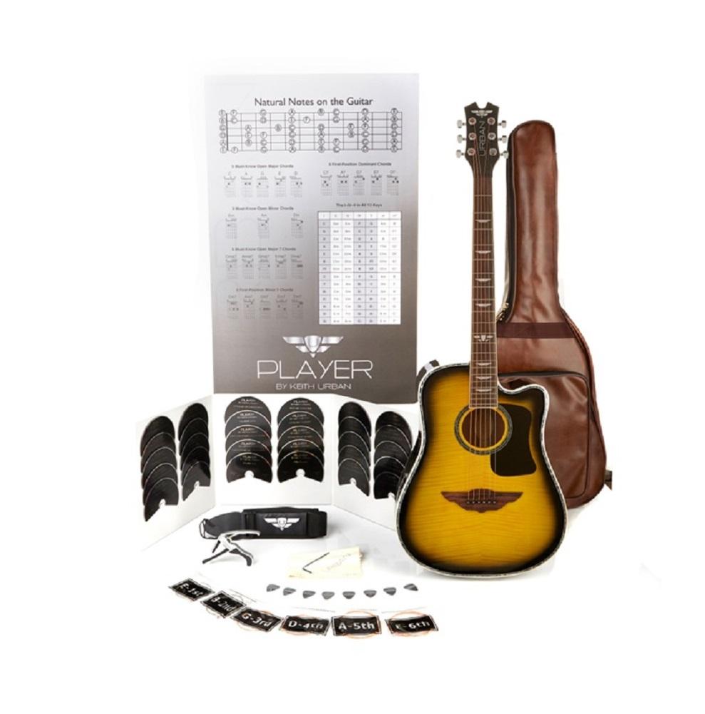 "Keith Urban ""PLAYER"" Tour Guitar 50-piece Package Brazilian Burst - Left"