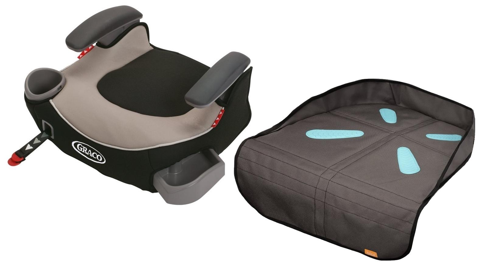 Silla De Carro Para Bebe Afijo de Graco Booster sin respaldo con cojín de asiento, Pierce + Graco en Veo y Compro