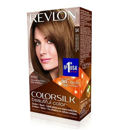 Revlon ColorSilk Hair Color 54 Light Golden Brow + Beyond BodiHeat Patch, 1