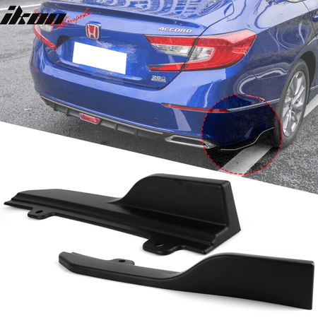Fits 18 Honda Accord OE Style Rear Bumper Splitters Black PP