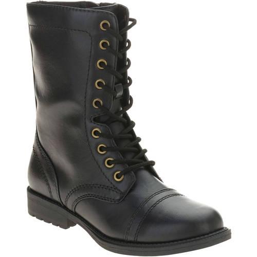 Faded Glory Women's Combat Boot - Walmart.com